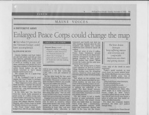 Peacefully changing the map for decades?