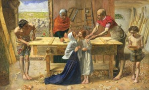 Christ in the House of His Parents ('The Carpenter's Shop') 1849-50 Sir John Everett Millais, Bt 1829-1896 Purchased with assistance from the Art Fund and various subscribers 1921 http://www.tate.org.uk/art/work/N03584